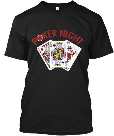 Poker Night Black T-Shirt Front