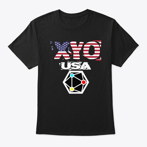 Xyo Usa Design Black T-Shirt Front