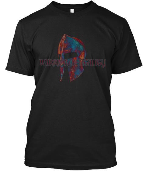 Warrior Mentality Black T-Shirt Front
