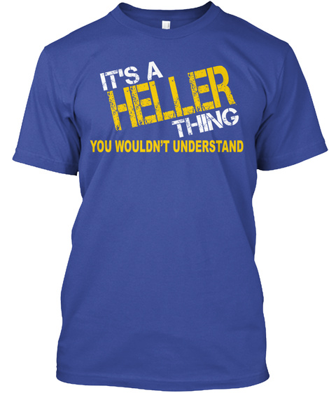 Heller Thing [Limited Time Sale] Deep Royal T-Shirt Front