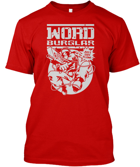 Word Burglar Classic Red T-Shirt Front
