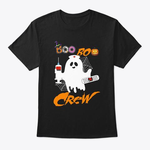 Boo Boo Crew Nurse Ghost Custome  Black T-Shirt Front