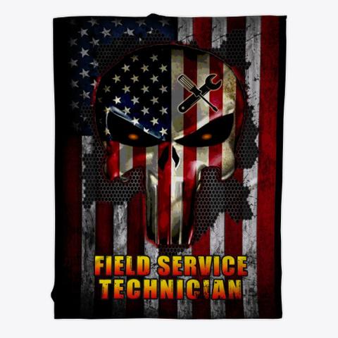 Sarcastic Field Service Tech Blanket Black T-Shirt Front
