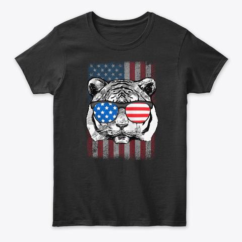 Tiger Wear Usa Sunglass Tee Black T-Shirt Front