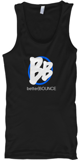 Original Better Bounce Gear Black Tank Top Front