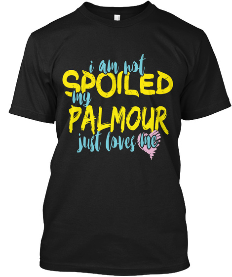 Palmour  Black T-Shirt Front
