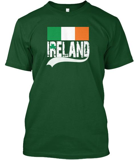 Irish St. Patricks Day Paddys Ireland  Deep Forest T-Shirt Front