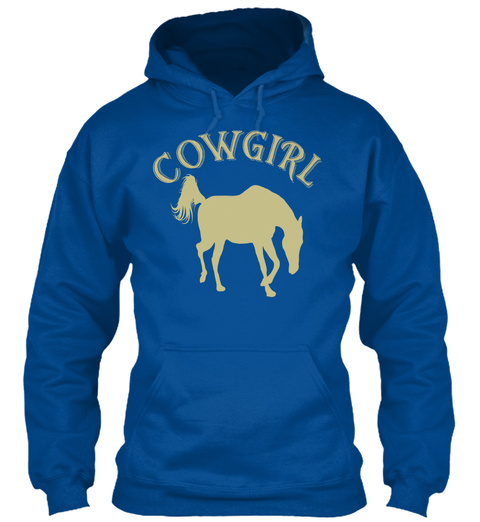 Cowgirl Royal T-Shirt Front