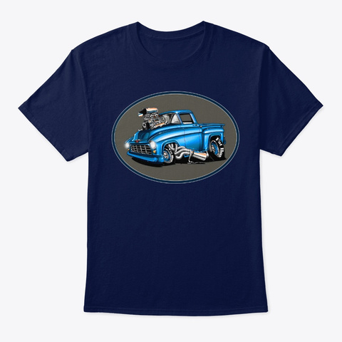 Hot Rod Muscle Tee Shirt Navy T-Shirt Front