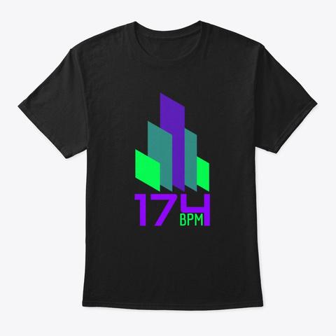 174 Bpm Drum And Bass Dn B Audio Bar Dj Black T-Shirt Front