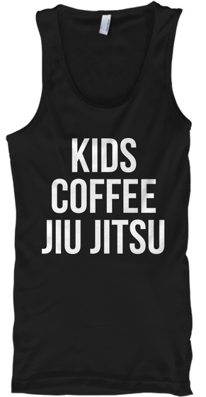 Kids Coffee Jiu Jitsu Black T-Shirt Front