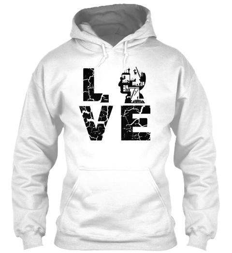 Civil Engineer Love T Shirt White Sweatshirt Front