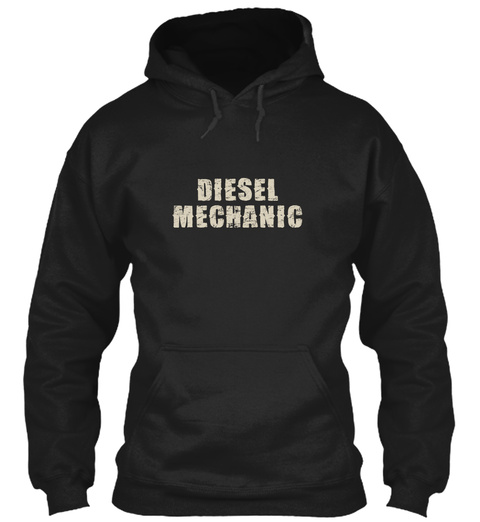 Diesel Mechanic Black Sweatshirt Front