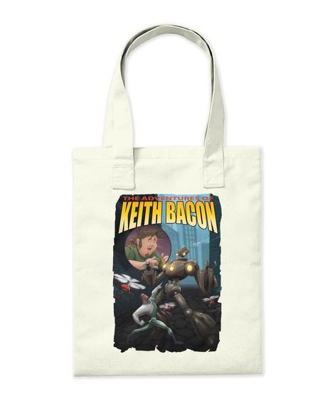 Keith Bacon Tote Natural T-Shirt Back