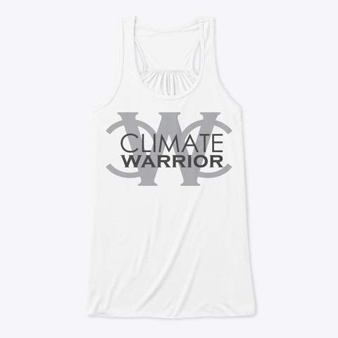 Climate Warrior White T-Shirt Front