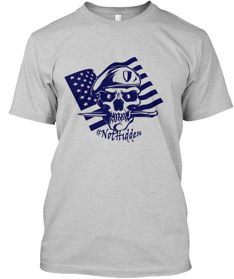 #Not Hidden Light Steel T-Shirt Front