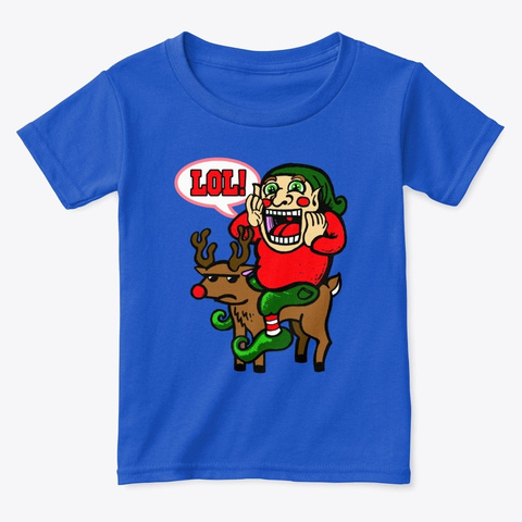 Lol Holiday Elf Royal  T-Shirt Front