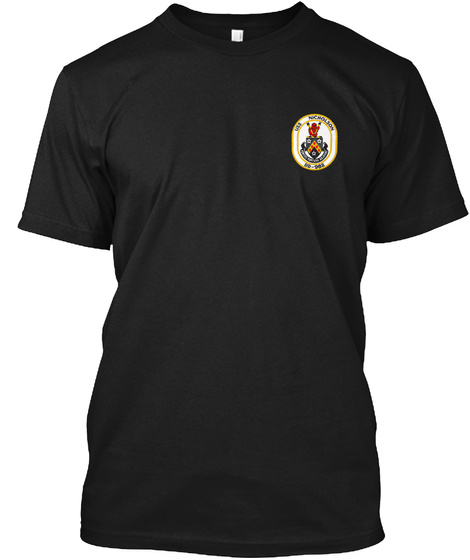 Uss Nicholson (Dd 982) Black T-Shirt Front