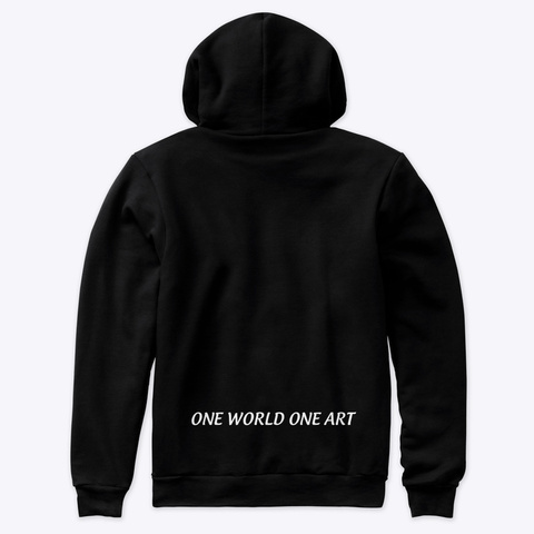 One World One Art   Lucca D Black T-Shirt Back