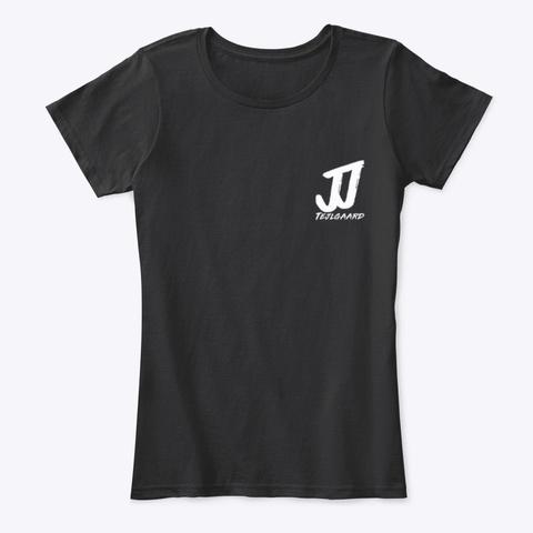 Jj Tejlgaard Logo Black T-Shirt Front