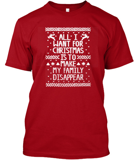 Chrismas Is Coming Deep Red T-Shirt Front