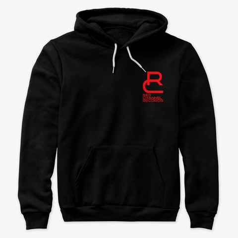 Rcr   Hoodie Pullover Black T-Shirt Front