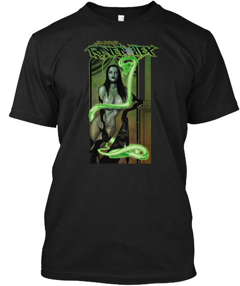 Ravenhex Black T-Shirt Front
