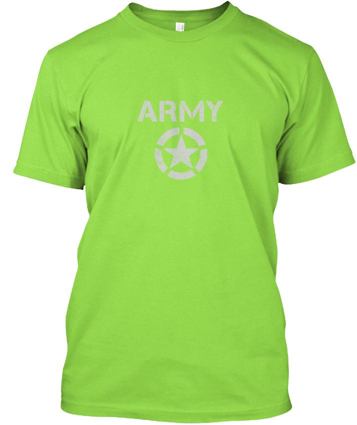 Vintage Army Hanes Tagless Tee T-Shirt