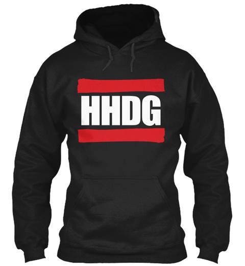 Hhdg Hip Hop Discussion Group Black T-Shirt Front