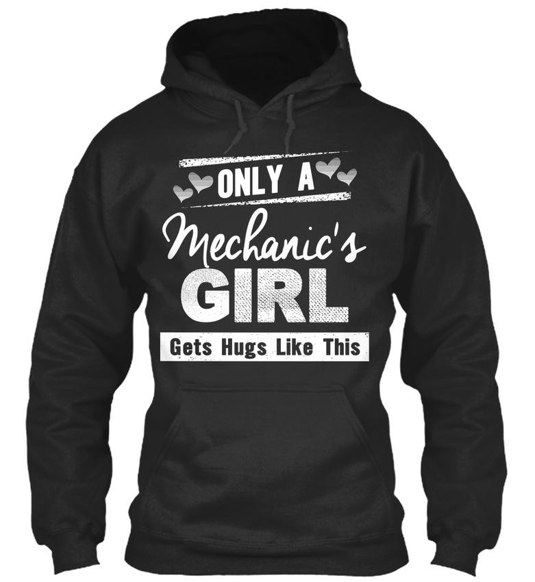 Mechanics Girl-seulement un mécanicien mécanicien un devient Hugs Comme Ce Standard College Sweat à capuche 8a6674