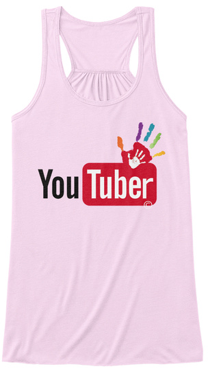 Youtuber Soft Pink T-Shirt Front