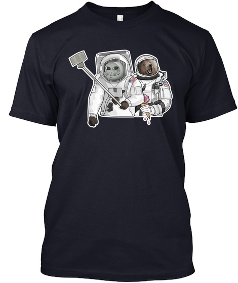 The Moon Navy T-Shirt Front