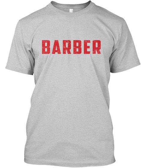 Barber Light Steel T-Shirt Front