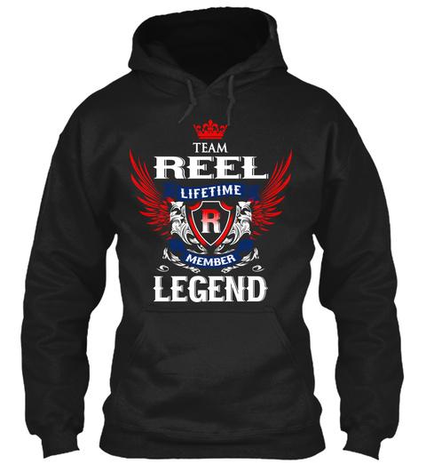 Team Reel Lifetime Member Legend Black T-Shirt Front