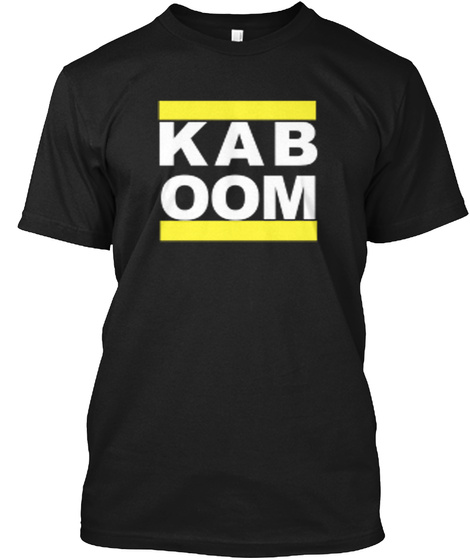 Kaboom Black T-Shirt Front