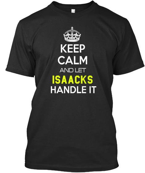 Isaacks Black T-Shirt Front