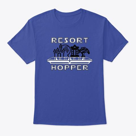 Resort Hopper Deep Royal T-Shirt Front