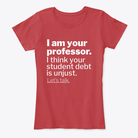 I Am Your Professor Classic Red T-Shirt Front