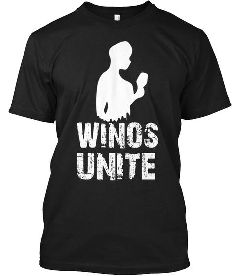 Winos Unite Black T-Shirt Front