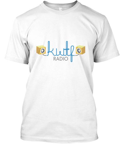 Kwtf Community Radio Swag Store White T-Shirt Front