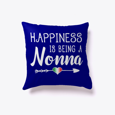 Happiness Is Being A Nonna Deep Navy T-Shirt Front