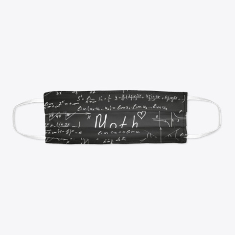 Awesome Mathematics Pattern Mask Gift Black T-Shirt Flat