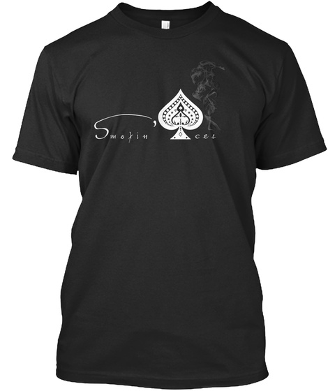 Smoking Ace's Black T-Shirt Front