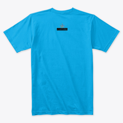 Powered By Cannabis & Coffee V2 Turquoise T-Shirt Back