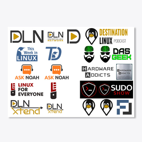 Dln Stickers Sheet White T-Shirt Front