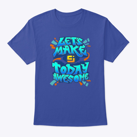 Awesome Tee Deep Royal T-Shirt Front