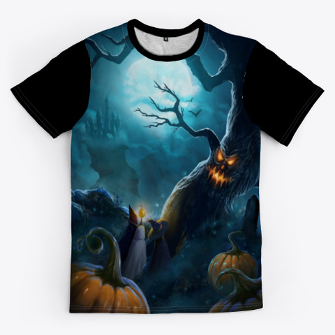 Hot Witch Shirt For Halloween Day Black T-Shirt Front