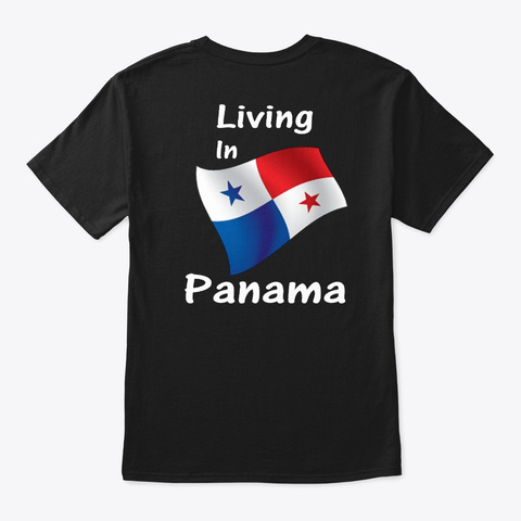 Made In Venezuela Living In Panama Black T-Shirt Back