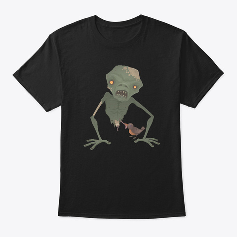 Sickly Zombie Black T-Shirt Front