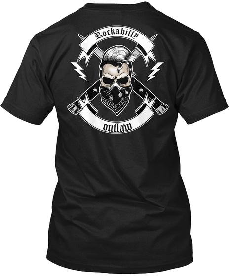 Rockabilly Outlaw Black T-Shirt Back